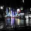 APPROACHING TIMES SQUARE N.Y.C.-THIS IS WHY I LOVE SHOOTING IN THE RAIN !