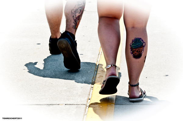 TATTOOS- 2ND IN MY STREET SERIES FROM WILDWOOD N.J.